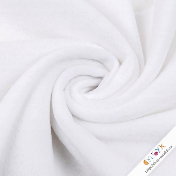 Флис белый отрез [FG-001-001]