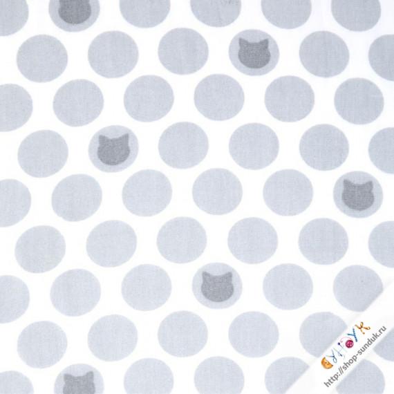 Little Prints Double Gauze [SRK-16195-12 GREY]