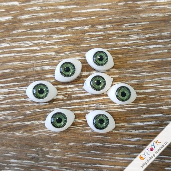 Глаза кукольные акриловые 11мм [11-зеленый]