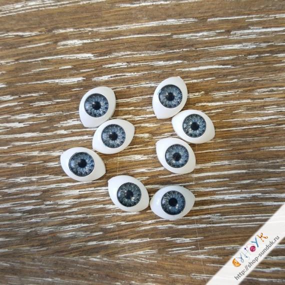 Глаза кукольные акриловые 11мм [11-серый]