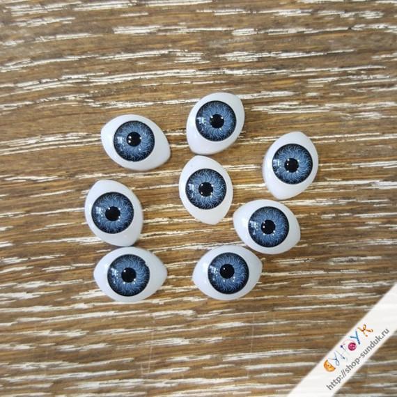 Глаза кукольные акриловые 14мм [14-серый]