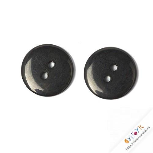 Пуговицы пластиковые черные 10мм [16L-322]