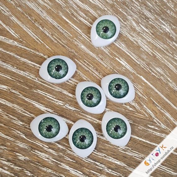 Глаза кукольные акриловые 17мм [17-зел]