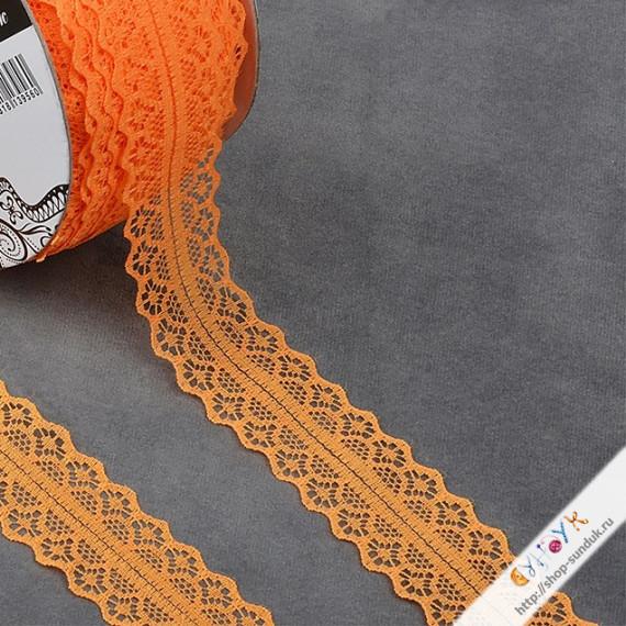 Кружево капроновое оранжевое [1659-1-229]