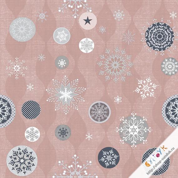 "Отрез датского хлопка со снежинками ""Icy Winter"" [4593-003]"
