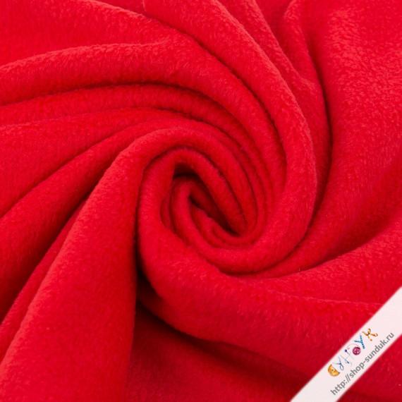 Флис красный отрез [FG-001-113]
