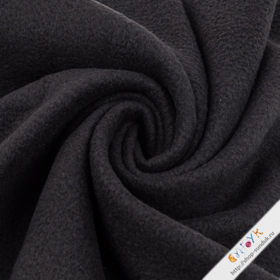 Флис черный отрез [FG-001-002]